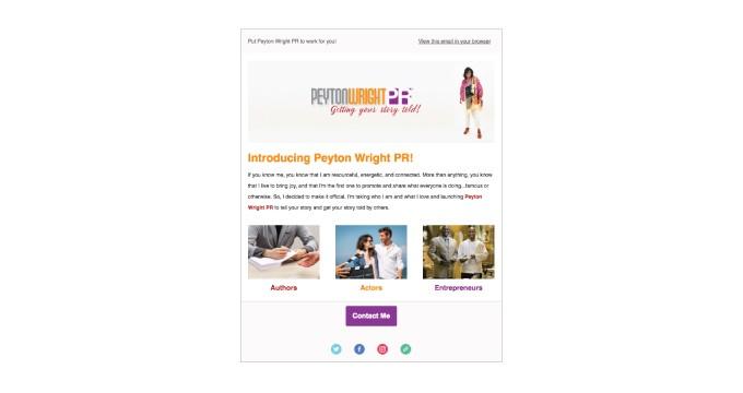 Peyton Wright PR | Email Template